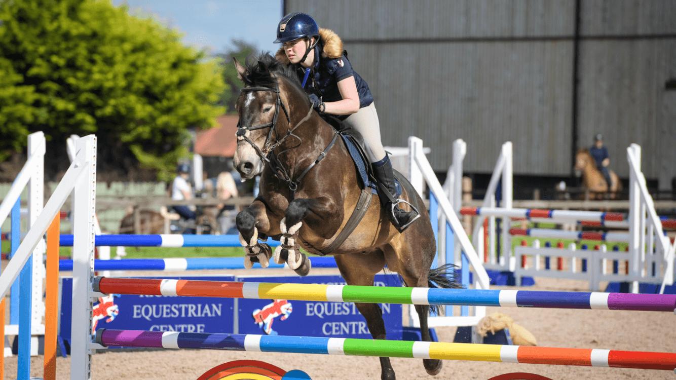 Pony jumping at Richmond EC